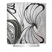 Organza Bloom Shower Curtain