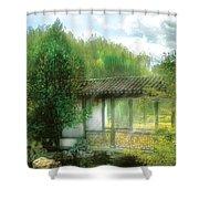 Orient - Bridge - Chinese Bridge  Shower Curtain