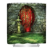 Orient - Door - The Moon Gate Shower Curtain