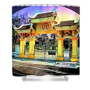 Oriental Gateway Shower Curtain