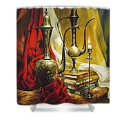 Oriental Jugs Shower Curtain