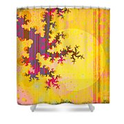 Oriental Moon Behind My Courtain Shower Curtain by Silvia Ganora