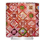 Oriental Patchwork Tapestry Shower Curtain