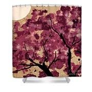 Oriental Plum Blossom Shower Curtain