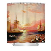Oriental Sailor Chiefs Gathered For A Meeting On The Shores Of The Black Sea Shower Curtain