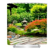 Oriental Scenic Shower Curtain