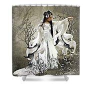 Oriental Sprinkle Shower Curtain