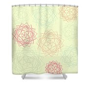 Origami Blooms Shower Curtain