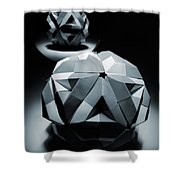 Origami Paper Sphere Shower Curtain