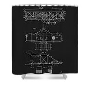 Original 1906 Wright Brothers Full Patent Shower Curtain