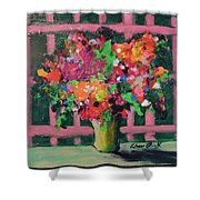 Original Bouquetaday Floral Painting By Elaine Elliott 59.00 Incl Shipping 12x12 On Canvas Shower Curtain