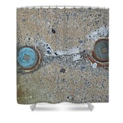 Original Damaged Pipes Shower Curtain