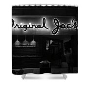 Original Joe's  San Jose Bw Shower Curtain