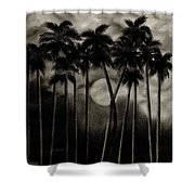 Original Moonlit Palm Trees  Shower Curtain