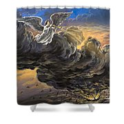 Fifth Trumpet Angel Shower Curtain