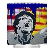 Original Painting Rocky Balboa Shower Curtain
