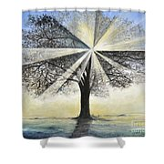 original Tree Light Shower Curtain