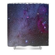 Orion And Canis Major Showing Dog Stars Shower Curtain