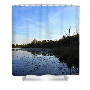 Orion's Lake At Sunset Shower Curtain