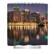 Orlando Sunrise Panorama Shower Curtain