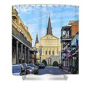 Orleans Street And St Louis Cathedral Shower Curtain