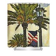 Ormond Beach Patriotic Shower Curtain