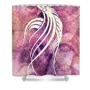 Ornamental Abstract Bird Minimalism Shower Curtain