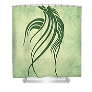 Ornamental Parrot Minimalism Shower Curtain