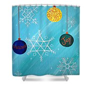 Ornaments And Snowflakes Shower Curtain