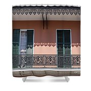 Ornate Balcony In New Orleans Shower Curtain