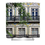 Ornate Building Facade In Lisbon Portugal Shower Curtain