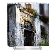 Ornate Italian Doorway Shower Curtain