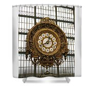 Ornate Orsay Clock Shower Curtain