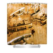 Ornate Rocking Horse Memoirs  Shower Curtain