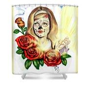 Oro Muerto Shower Curtain