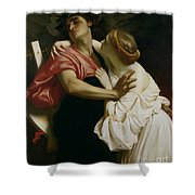 Orpheus And Euridyce Shower Curtain by Frederic Leighton