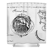 Orrery By Stephen Hales, 1705 Shower Curtain
