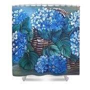 Ortencias Azules 2 Shower Curtain