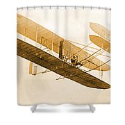 Orville Wright In Wright Flyer 1908 Shower Curtain