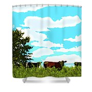 Osage County Cows Shower Curtain