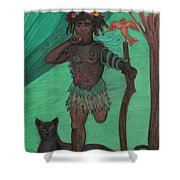 Osain Shower Curtain by Gabrielle Wilson-Sealy