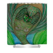 Wadjet Osain Shower Curtain by Gabrielle Wilson-Sealy