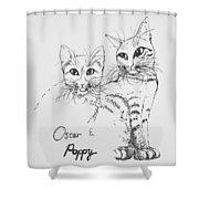 Oscar And Poppy Shower Curtain
