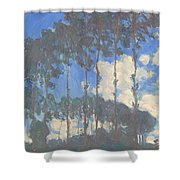 Oscar Monet   Poplars On The Epte Shower Curtain