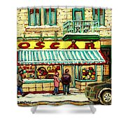 Oscar 's Candy Store Montreal Shower Curtain
