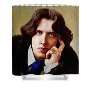 Oscar Wilde, Literary Legend Shower Curtain