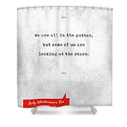 Oscar Wilde Quotes - Lady Windermere's Fan - Literary Quotes - Book Lover Gifts - Typewriter Quotes Shower Curtain