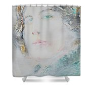 Oscar Wilde - Watercolor Portrait.7 Shower Curtain