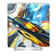Oscillating Color Abstract Shower Curtain