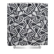 Osculating Circles Shower Curtain